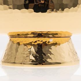 Ziborium aus vergoldetem Messing mit drehbaren Plexiglas-Deckel s6