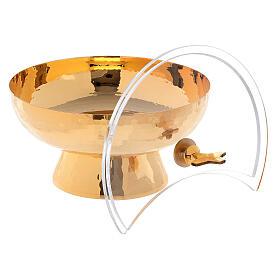 Ziborium aus vergoldetem Messing mit drehbaren Plexiglas-Deckel s4