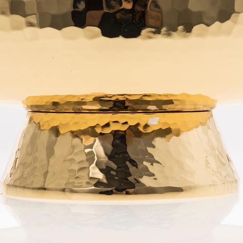 Ziborium aus vergoldetem Messing mit drehbaren Plexiglas-Deckel 6