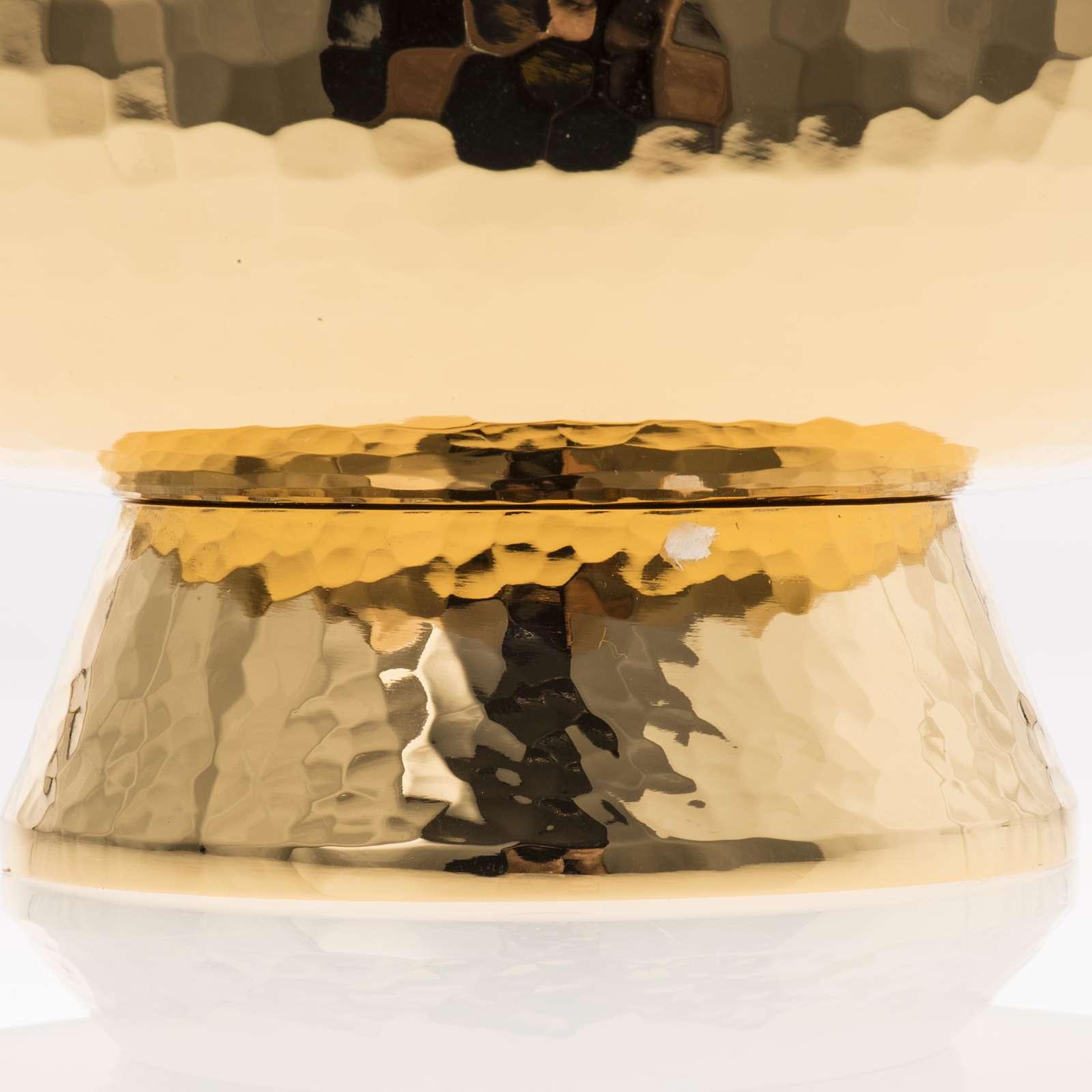 Ciboire laiton avec couvercle en plexiglas 4