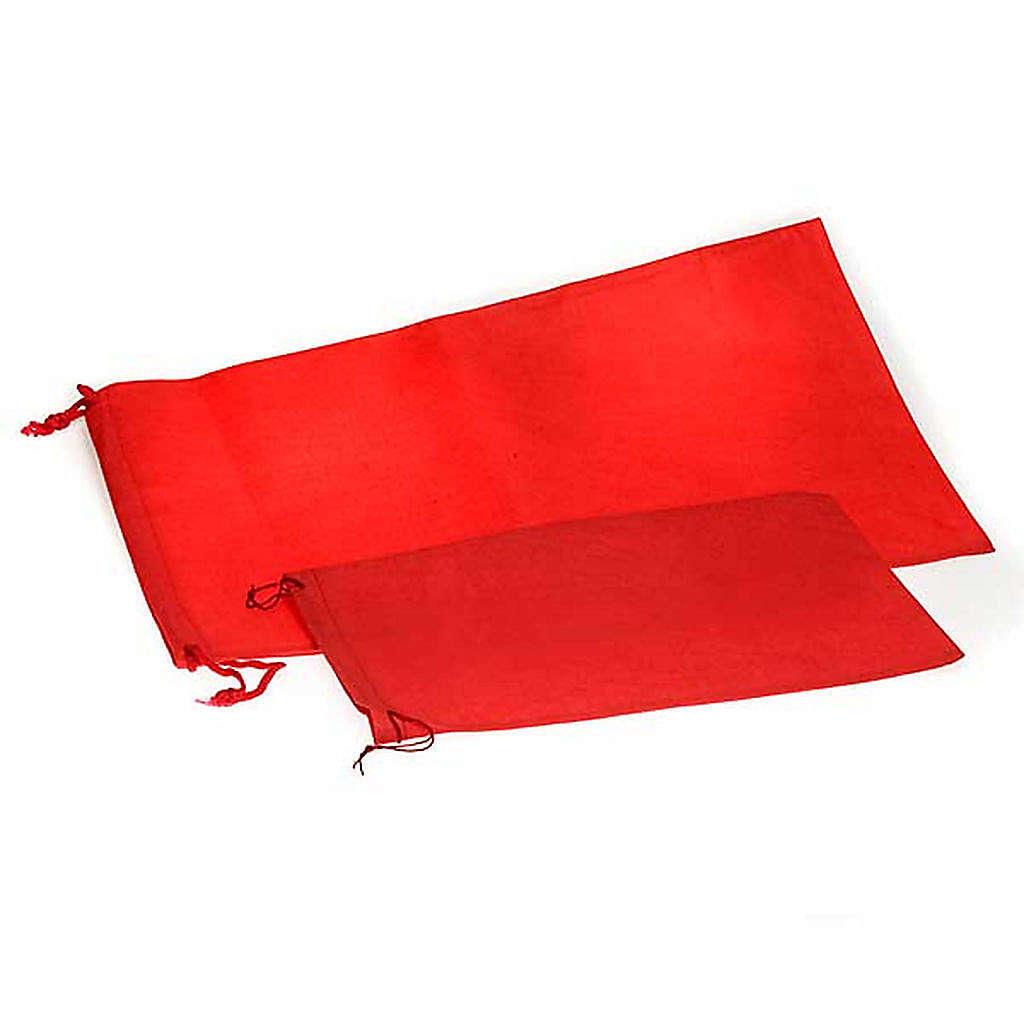 Bolsa porta cáliz rojo tela 4