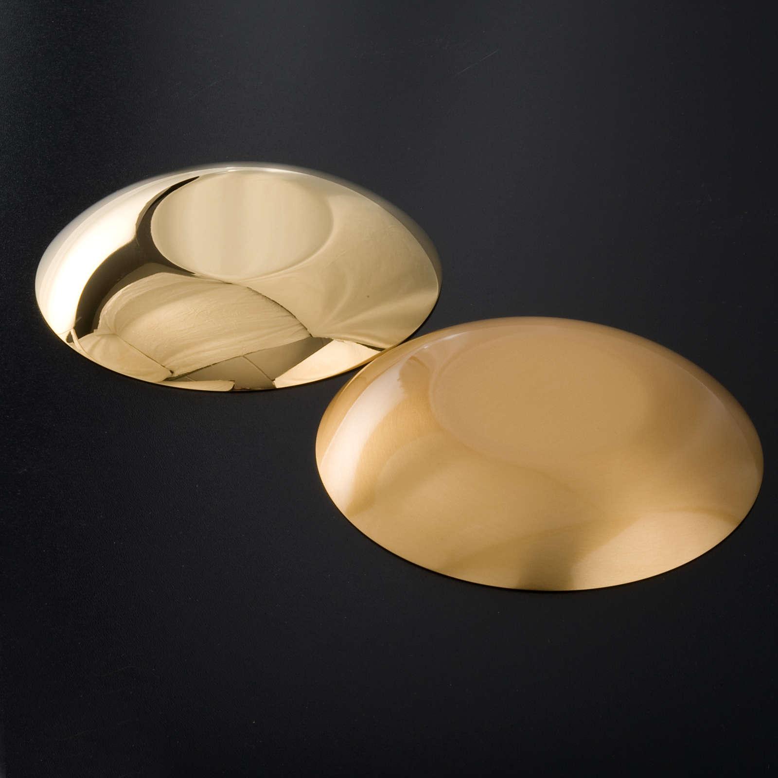 Bandeja latão dourado fundo arredondado 4