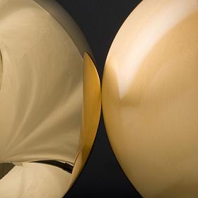 Bandeja latão dourado fundo arredondado s3