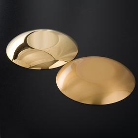Bandeja latão dourado fundo arredondado s5