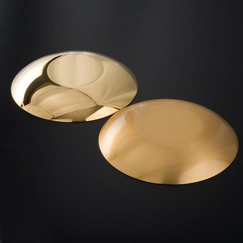 Bandeja latão dourado fundo arredondado 5