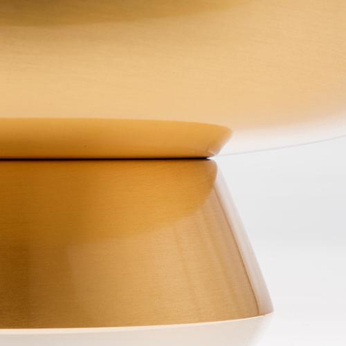 Patena ottone dorato satinato 16 cm 3