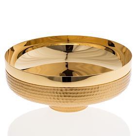 Patena ottone dorato martellato 16 cm s1