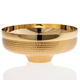 Patena ottone dorato martellato 16 cm s2