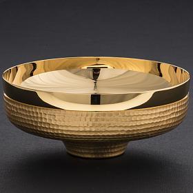 Patena ottone dorato martellato 16 cm s4