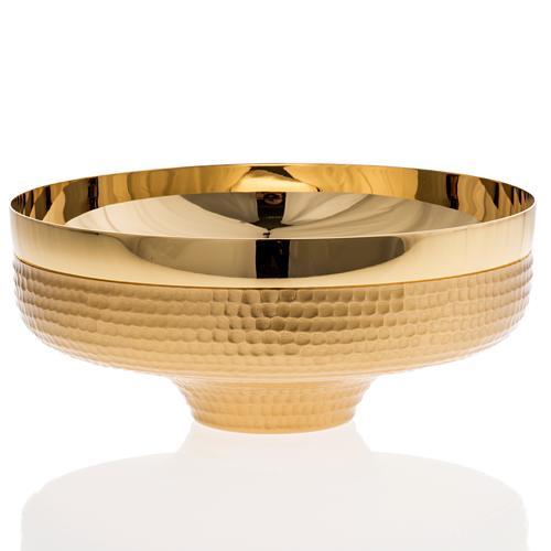 Patena ottone dorato martellato 16 cm 2