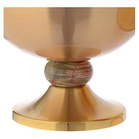 Ciboire laiton doré opaque croix noeud en onyx s2