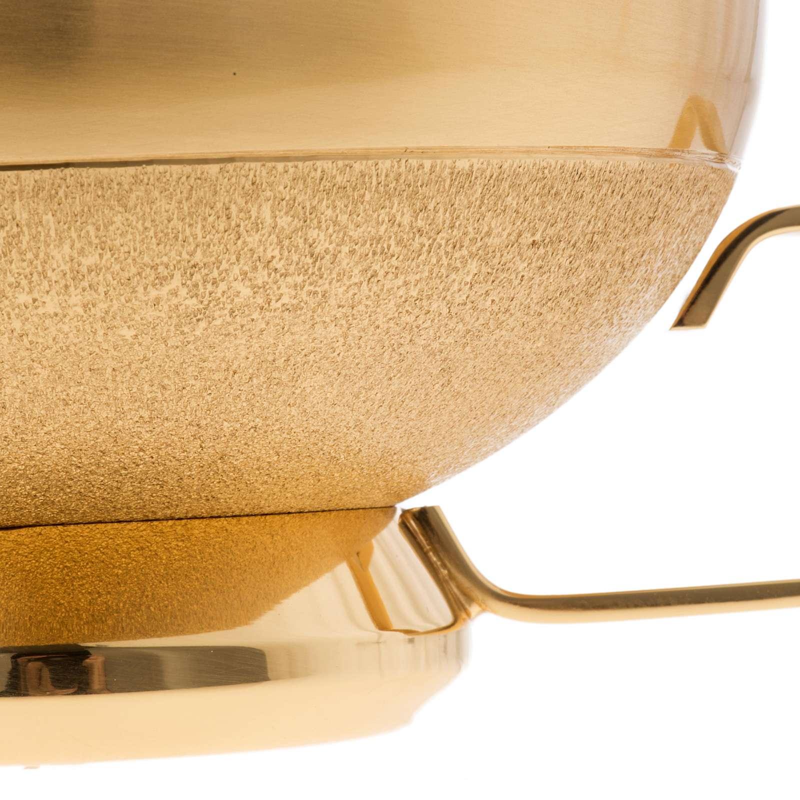 Pisside con manico ottone dorato 4