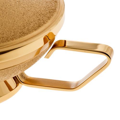 Pisside con manico ottone dorato 3
