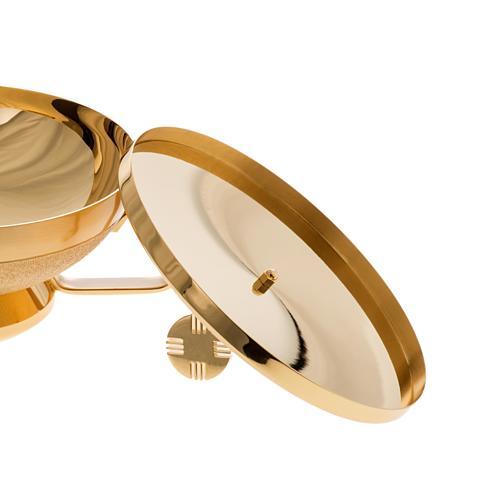Pisside con manico ottone dorato 8