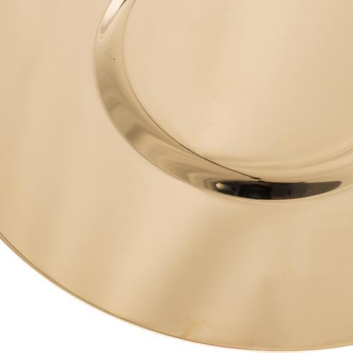 Patène laiton doré lucide fond modelé 15cm 4