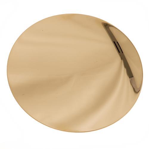 Patena de latón lisa diámetro 15cm 2