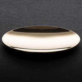 Paten in golden brass, smooth 15 cm s4