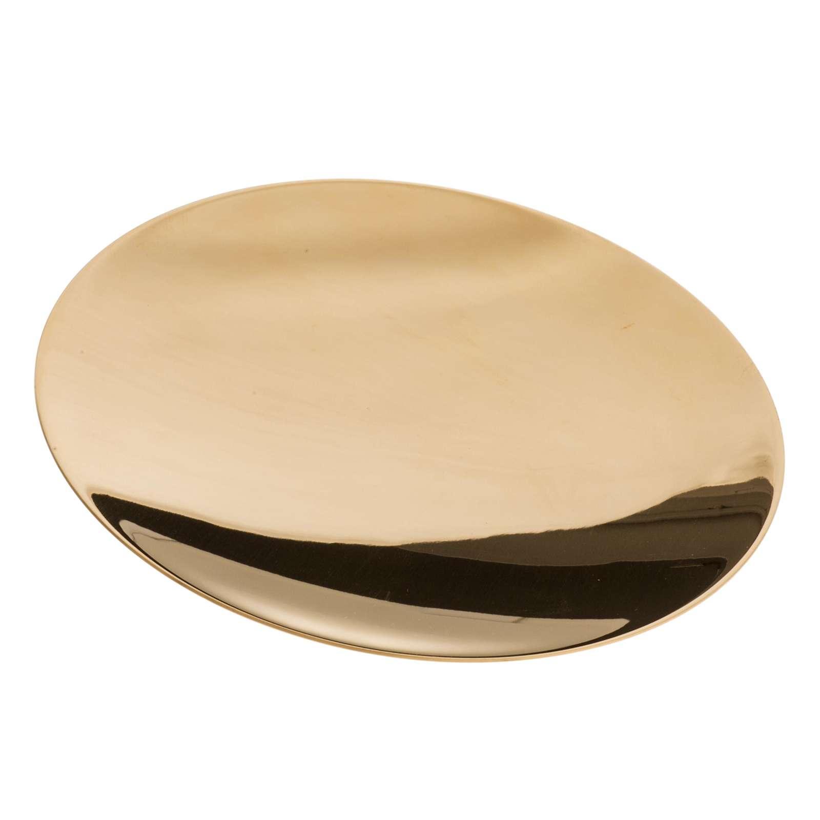 Patena ottone liscia incisa diam. 15 cm 4