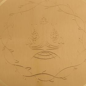 Patena ottone liscia incisa diam. 15 cm s4