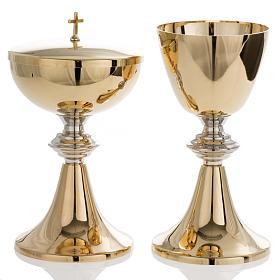 Metal Chalices Patens Ciboria: Chalice and Ciborium in brass, classic style