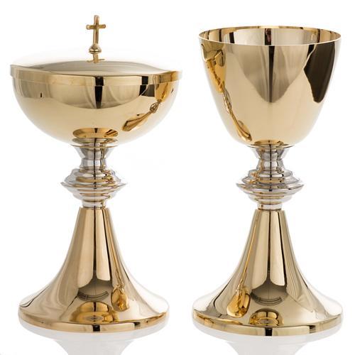 Chalice and Ciborium in brass, classic style 1