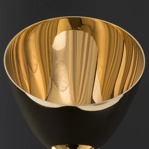 Chalice and Ciborium in brass, classic style 7