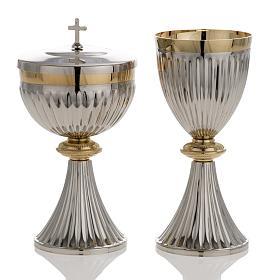 Metal Chalices Patens Ciboria: Chalice and Ciborium in brass, empire style