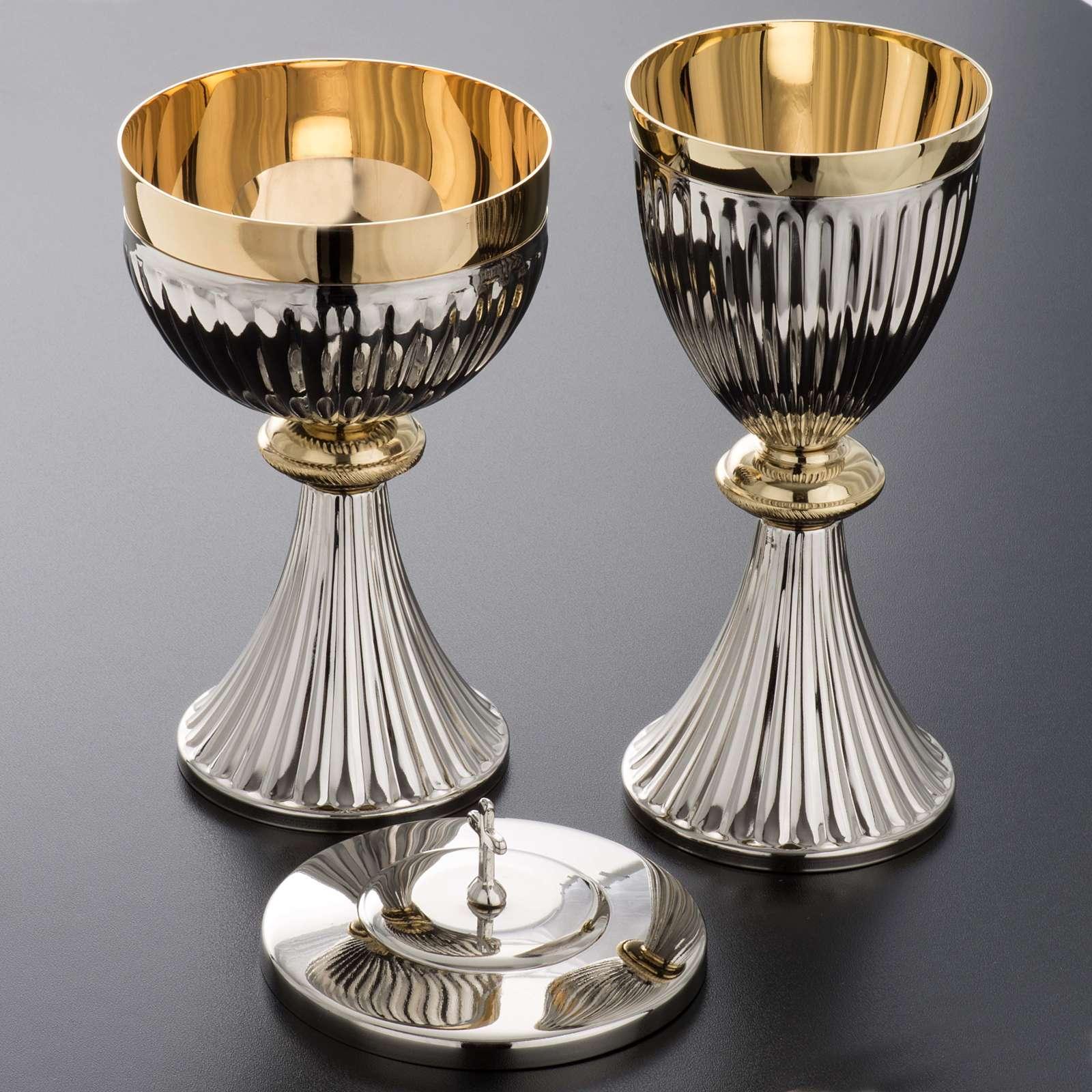 Chalice and Ciborium in brass, empire style 4