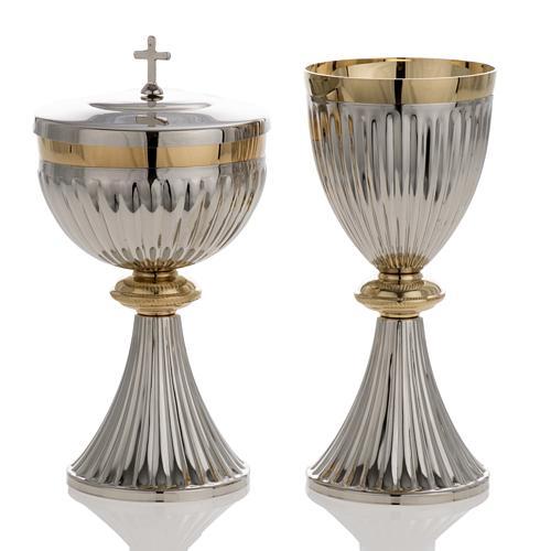 Chalice and Ciborium in brass, empire style 1