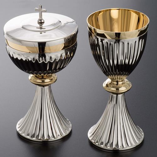 Chalice and Ciborium in brass, empire style 2