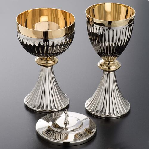Chalice and Ciborium in brass, empire style 3