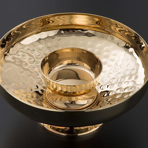 Intinction set in golden brass, hammered finishing 4