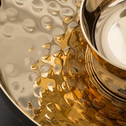 Set d'intinction laiton doré et martelé 5