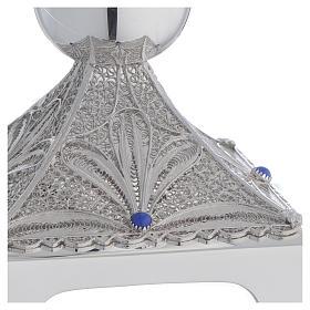 Calice argento 800 filigrana base quadrata e lapis s2