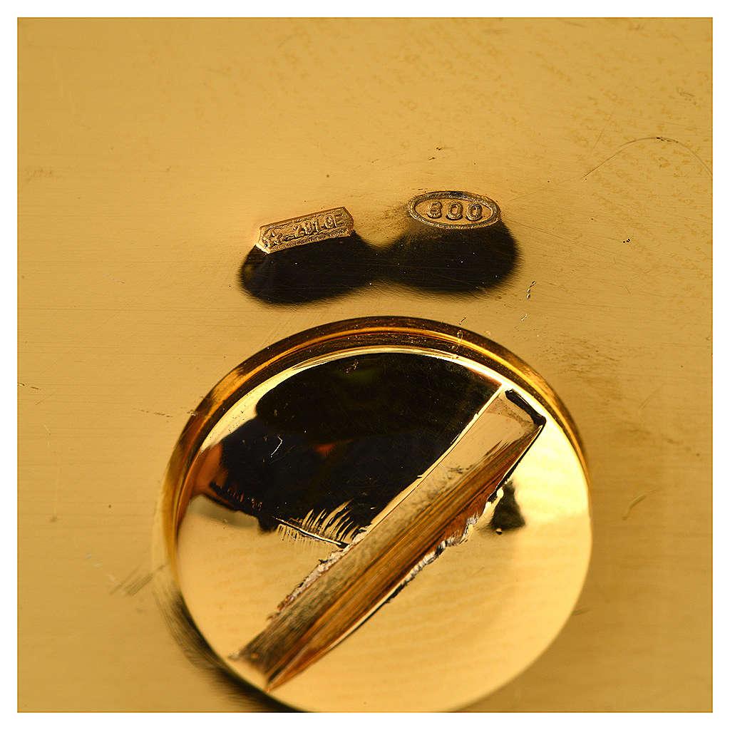 Calice argento 800 filigrana Buon Pastore pietre lapis 4