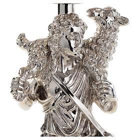 Calice argento 800 filigrana Buon Pastore pietre lapis s15