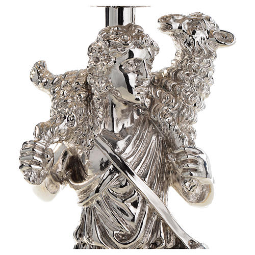 Calice argento 800 filigrana Buon Pastore pietre lapis 6