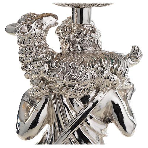 Calice argento 800 filigrana Buon Pastore pietre lapis 7