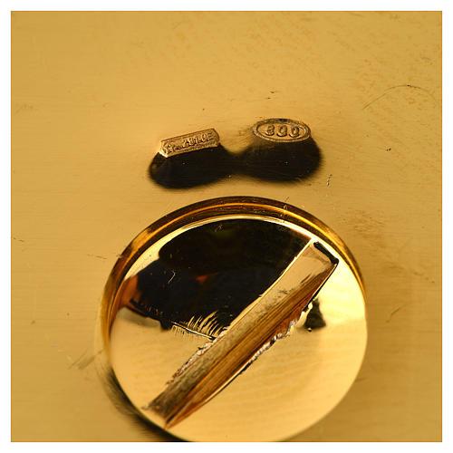 Calice argento 800 filigrana Buon Pastore pietre lapis 9