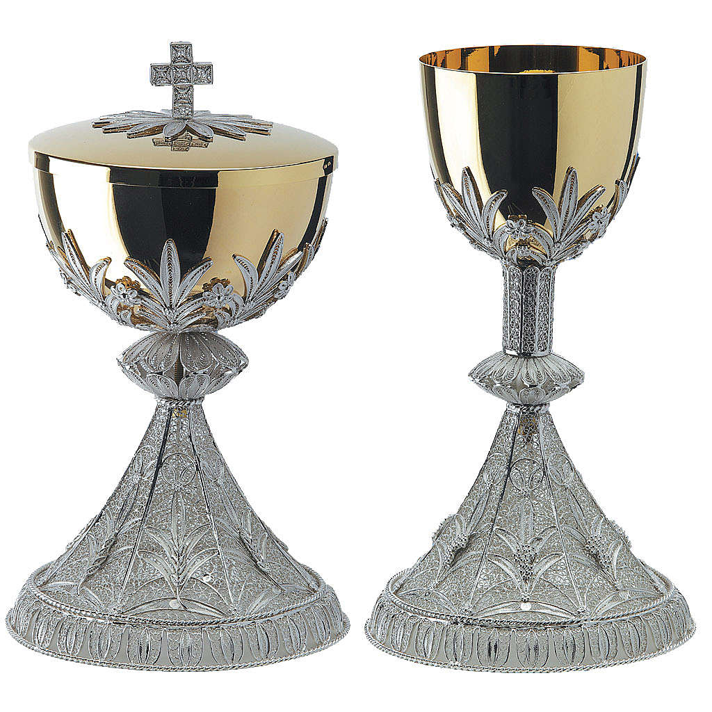 Cáliz y Píxide plata 800 filigrana 4