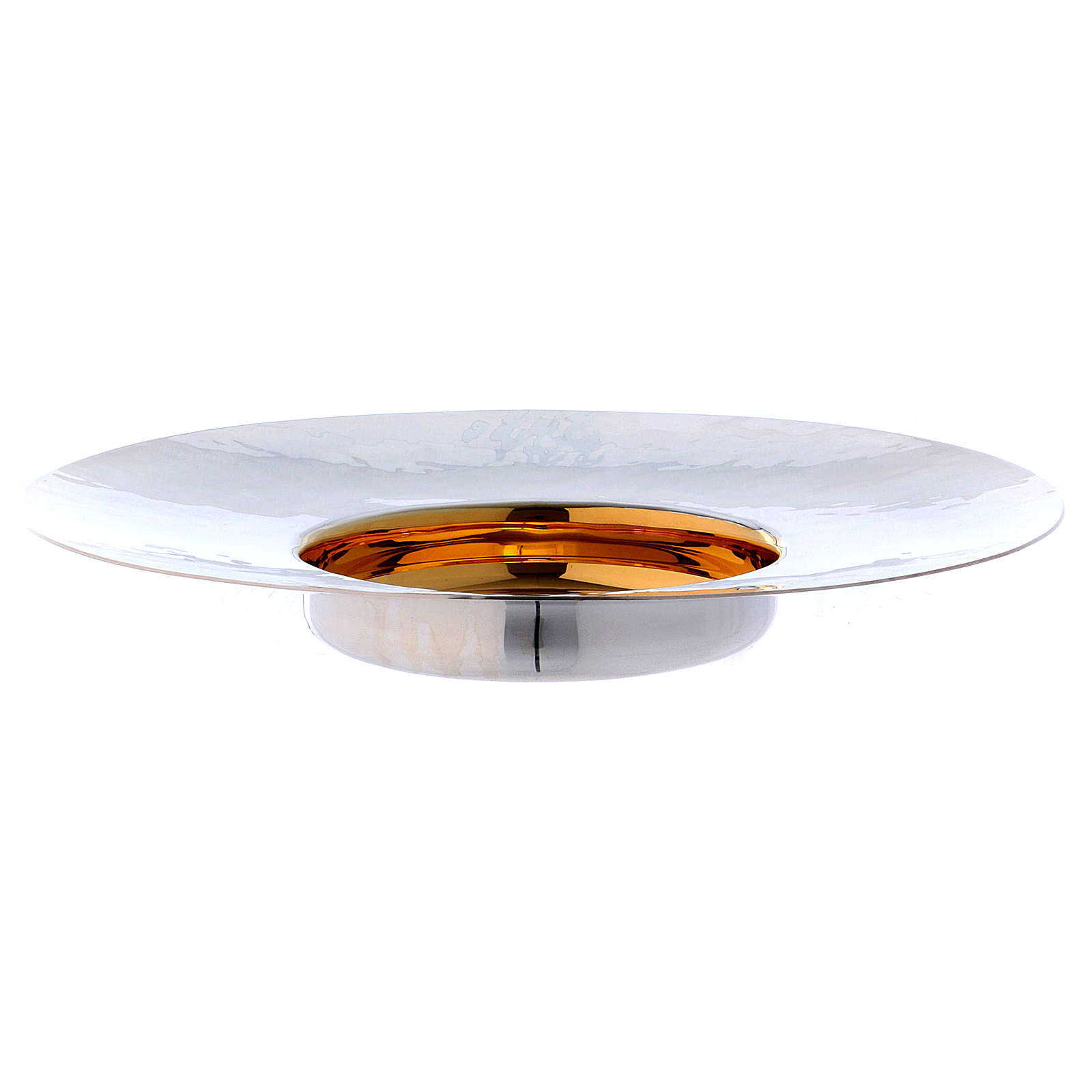 Paten in silver plated metal, Saint Anselm model 4