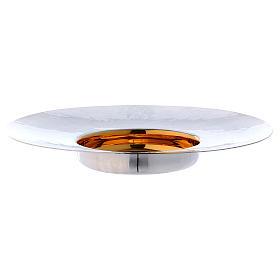 Paten in silver plated metal, Saint Anselm model s2