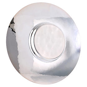 Paten in silver plated metal, Saint Anselm model s3