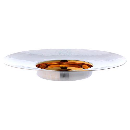 Paten in silver plated metal, Saint Anselm model 2