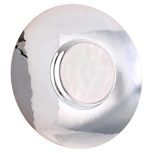 Paten in silver plated metal, Saint Anselm model 3