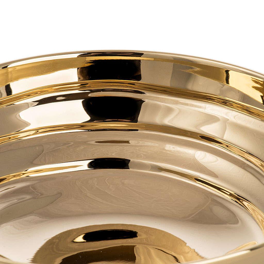 Bowl paten in silver plated metal, Saint Michael model 4