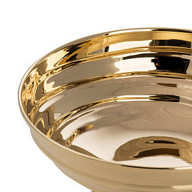 Bowl paten in silver plated metal, Saint Michael model s4