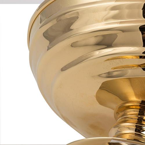 Bowl paten in silver plated metal, Saint Michael model 5