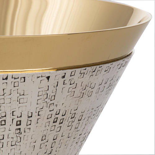 Chalice in silver and gold plated metal, Ventus model 5