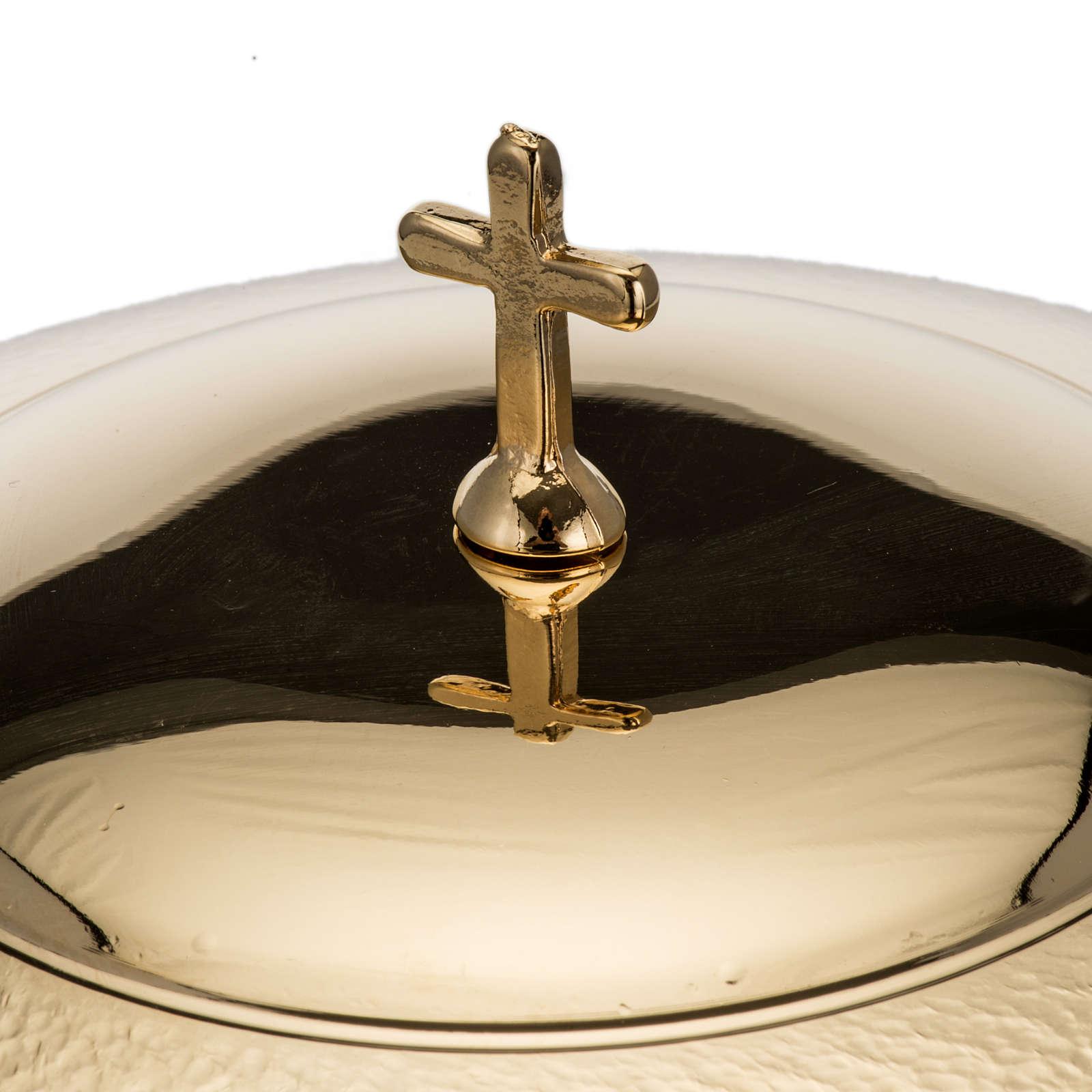 Pisside zigrinata oro  h. 26 cm 4